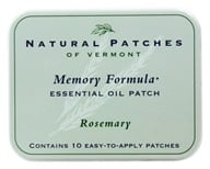 Image of Natural Patches of Vermont - Essential Oil Body Patch Memory Formula Rosemary - 10 Patch(es)