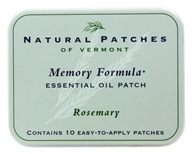Natural Patches of Vermont - Essential Oil Body Patch Memory Formula Rosemary - 10 Patch(es) (855611001836)