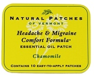 Natural Patches of Vermont - Soothing Migraine Formula Essential Oil Body Patches Chamomile - 10 Patch(es)