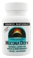Source Naturals - Mucuna Dopa 100 mg. - 60 Vegetarian Capsules, from category: Nutritional Supplements