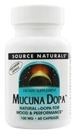 Image of Source Naturals - Mucuna Dopa 100 mg. - 60 Vegetarian Capsules