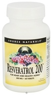 Source Naturals - Resveratrol 200 mg. - 60 Tablets, from category: Nutritional Supplements