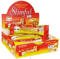 Slimful - Sinfully Delicious 90 Calorie Chew Bar Honey Almond - 12 x .92 oz(26g) Bars (719410038205)
