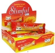 Slimful - Sinfully Delicious 90 Calorie Chew Bar Orange Tangerine - 12 x .92 oz(26g) Bars (719410028206)