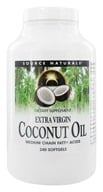 Source Naturals - Extra Virgin Coconut Oil - 240 Softgels