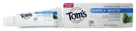 Image of Tom's of Maine - Natural Toothpaste Simply White With Fluoride Clean Mint - 0.9 oz.