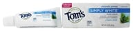 Tom's of Maine - Natural Toothpaste Simply White With Fluoride Clean Mint - 0.9 oz., from category: Personal Care