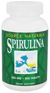 Source Naturals - Spirulina 500 mg. - 500 Tablets