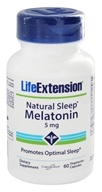Life Extension - Natural Sleep Melatonin 5 mg. - 60 Capsules (737870144564)