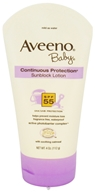 Image of Aveeno - Baby Continuous Protection Sunblock Lotion Fragrance-Free 55 SPF - 4 oz.