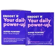 Eboost - Natural Energy Acai Pomegranate - 20 x .25 oz (7.1g) Packets by Eboost