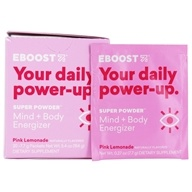 Eboost - Natural Energy Pink Lemonade - 20 x .24 oz (6.8g) Packets by Eboost