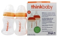 Image of Thinkbaby - Twin Pack Stage A 5 fl oz Baby Bottles - 2 Bottle(s)