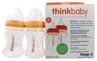 Thinkbaby - Twin Pack Stage A 5 fl oz Baby Bottles - 2 Bottle(s) (890397002745)