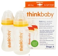 Image of Thinkbaby - Twin Pack Stage A 9 fl oz Baby Bottles - 2 Bottle(s)