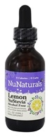 NuNaturals - Pure Liquid NuStevia Alcohol Free Lemon - 2 oz. by NuNaturals