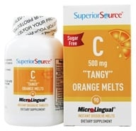 Image of Superior Source - Vitamin C Tangy Orange Melts Instant Dissolve 500 mg. - 90 Tablets
