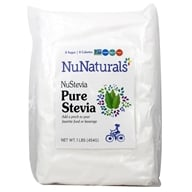 NuNaturals - NuStevia White Stevia Pure Extract Powder - 1 lb. (739223001685)