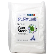 NuNaturals - NuStevia White Stevia Pure Extract Powder - 1 lb.