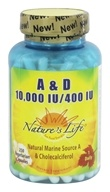 Nature's Life - Vitamin A & D 10,000 IU/400 IU - 250 Softgels (040647001077)