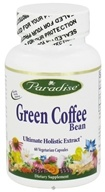 Paradise Herbs - Green Coffee Bean 800 mg. - 60 Vegetarian Capsules