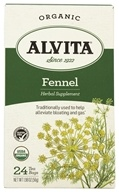 Alvita - Organic Fennel Tea Caffeine Free - 24 Tea Bags, from category: Teas