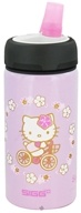 Image of Sigg - Aluminum Water Bottle Active Top For Kids Hello Kitty Bike - 0.4 Liter