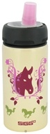 Sigg - Aluminum Water Bottle Active Top For Kids Horses - 0.4 Liter by Sigg