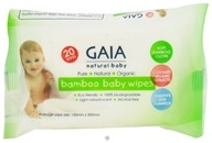 Gaia Skin Naturals - Gaia Natural Baby Bamboo Wipes - 20 Wipe(s) (9332059000443)