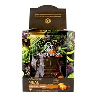 PlantFusion - Phood 100% Plant-Based Whole Food Meal Shake Chocolate Caramel - 12 x 1.59 oz. Packets
