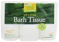 Field Day - Bath Tissue 100% Recycled 2-Ply Double Roll - 12 Roll(s)