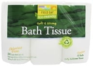 Field Day - Bath Tissue 100% Recycled 2-Ply Double Roll - 12 Roll(s) by Field Day