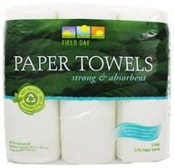 Field Day - Paper Towels 100% Recycled 2-Ply 60 Sheets - 3 Roll(s) by Field Day