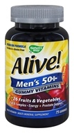 Nature's Way - Alive Men's 50+ Gummy Vitamins - 75 Gummies, from category: Vitamins & Minerals