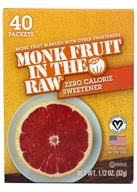 In The Raw - Monk Fruit In The Raw Natural Sweetener - 40 Packet(s) (044800710042)