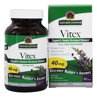 Nature's Answer - Vitex (Agnus-Castus) Chastetree Berry Single Herb 40 mg. - 90 Vegetarian Capsules (083000163548)