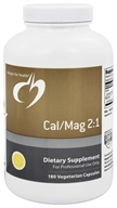 Designs For Health - Cal/Mag 2:1 - 180 Vegetarian Capsules