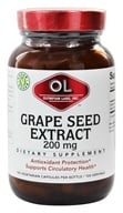 Olympian Labs - Grape Seed Extra Strength 200 mg. - 100 Vegetarian Capsules (710013000934)