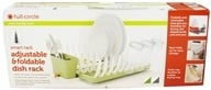 Full Circle - Smart Rack Adjustable & Foldable Dish Rack Grass Green (850166002819)
