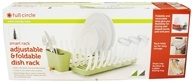 Full Circle - Smart Rack Adjustable & Foldable Dish Rack Grass Green - $34.99