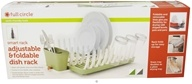 Full Circle - Smart Rack Adjustable & Foldable Dish Rack Bright Graphite - $34.99