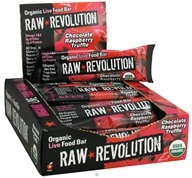 Raw Revolution - Organic Live Food Bar with Sprouted Flax Seeds Chocolate Raspberry Truffle - 12 x 1.8 oz Bars - (formerly Raspberry & Chocolate) by Raw Revolution