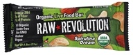 Raw Revolution - Organic Live Food Bar with Sprouted Flax Seeds Spirulina Dream - 12 x 1.8 oz. Bars - (formerly Spirulina and Cashew) by Raw Revolution