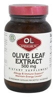 Olympian Labs - Olive Leaf Extract 500 mg. - 60 Vegetarian Capsules