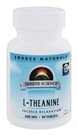 Image of Source Naturals - L-Theanine 200 mg. - 30 Tablets