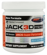 USP Labs - Jack3d Micro Blue Raspberry (5.1 oz.) - 146 Grams, from category: Sports Nutrition