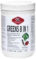 Olympian Labs - Greens Protein 8 in 1 Delicious Blueberry Flavor - 388 Grams