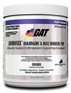 GAT - Adenoflex Hematogenic & Mass Enhancing PWD Grape Bubblegum - 300 Grams by GAT