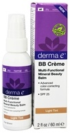 Derma-E - Evenly Radiant BB Creme Multi-Functional Mineral Beauty Balm Fragrance Free Light Tint 25 SPF - 2 oz. (030985003352)