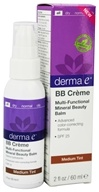Derma-E - Evenly Radiant BB Creme Multi-Functional Mineral Beauty Balm Fragrance Free Medium Tint 25 SPF - 2 oz. (030985003369)